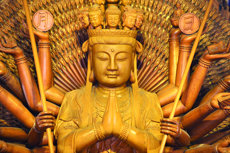 mercy: Quan Yin statue - Buddhist Goddess of mercy
