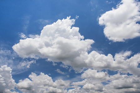 beautiful clouds on blue sky