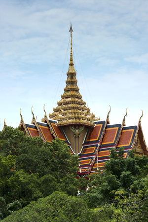 Architecture buddhist artwork spectacular temple in thailand. Stock Photo