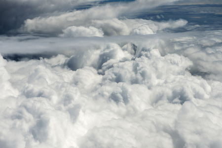 beautiful clouds on a blue sky Stock Photo