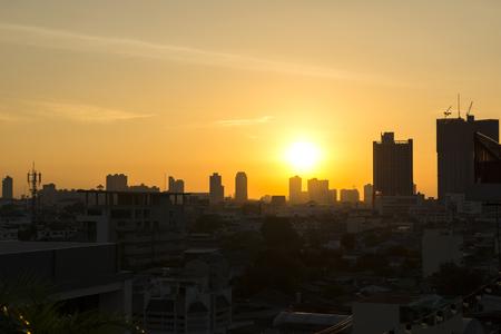 Sunrise in the morning at Bangkok ,Thailand,