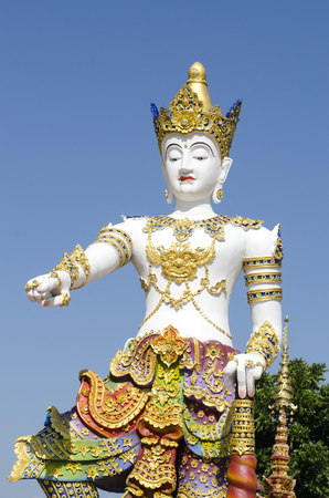 Thai sculpture style of beautiful angel statue at the temple in , Thailand