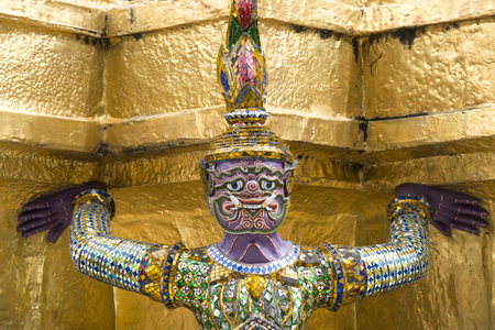 Close up giant statue at wat phra kaew in bangkok,Thailand.