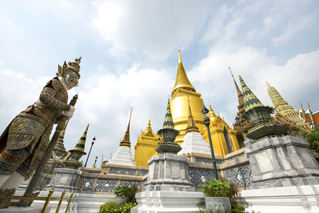 Wat Phra Kaew, Temple of the Emerald Buddha with blue sky