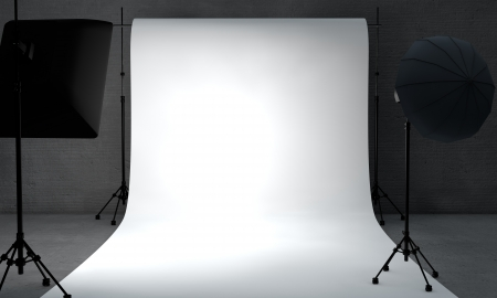 behind the scenes: white paper limbo by lighting equipment