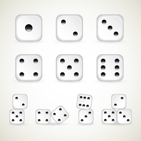 dice: Numbers of dice  vector  1-10 count