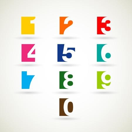7 8: Numbers set  vector