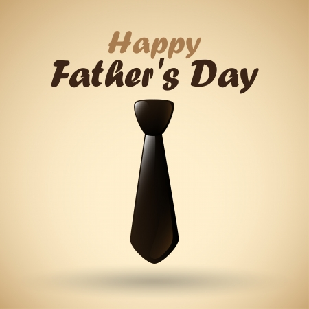 Happy Father s Day tie style   Vector