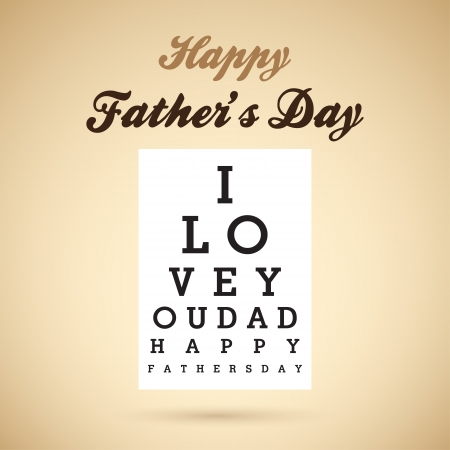 Happy Father s Day Eye Test Chart   Vector