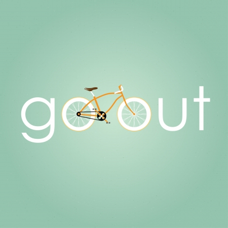 go out: Go out with bicycle retro style