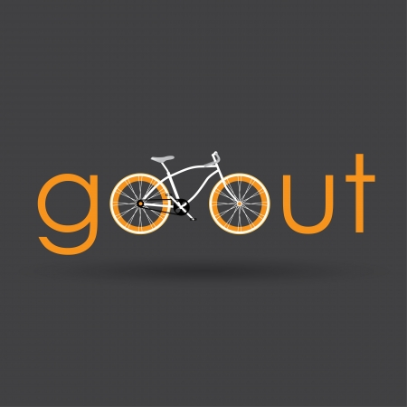 bicycle lane: Go out with bicycle retro style