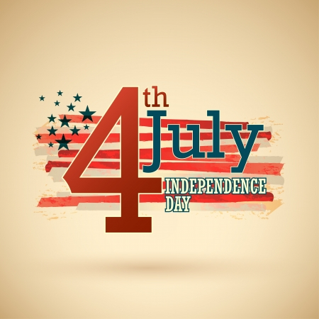 Happy independence day United States of America, 4th of July with grunge flag   Vector