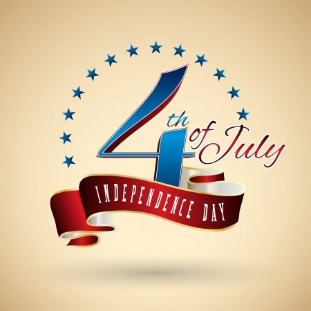 Happy independence day United States of America, 4th of July Vector