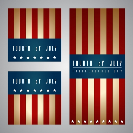 independent day: Set of banners happy independence day United States of America, 4th of July