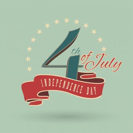 independencia: Feliz d�a de la independencia de Estados Unidos de Am�rica, 04 de julio Vectores