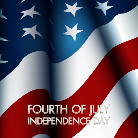 Gelukkig onafhankelijkheidsdag Verenigde Staten van Amerika, 4 juli Stock Illustratie