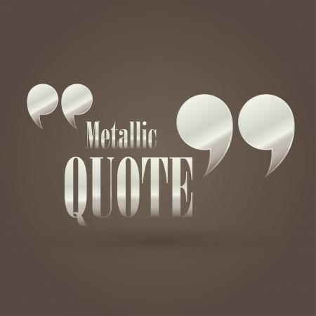 quote: illustration with metallic quote
