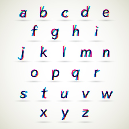 Lower case alphabet set Vector