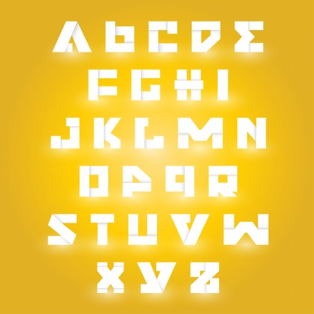 Upper case alphabet set Vector