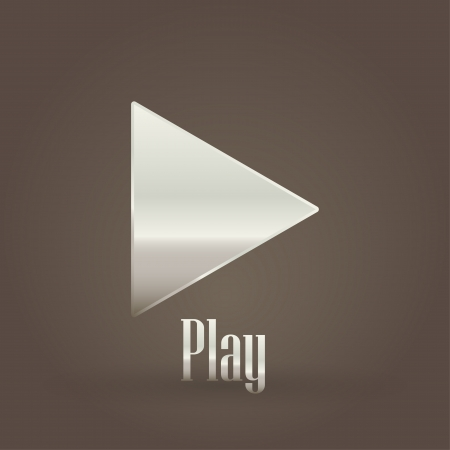 Play metallic symbol  Vector