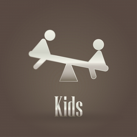 Kids metallic symbol  Vector