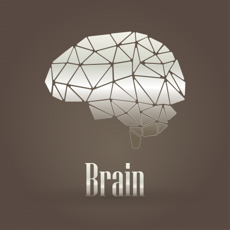 Brain metallic symbol  Vector