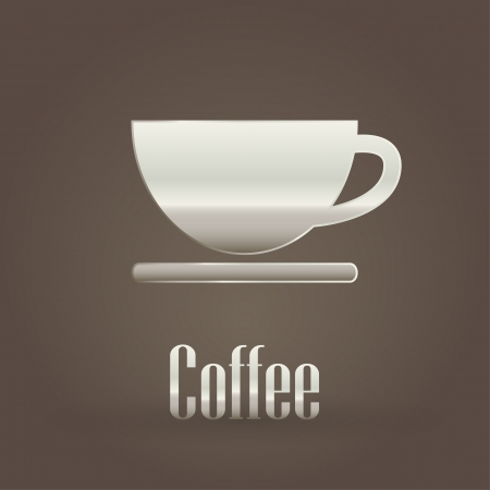Coffee metallic symbol  Vector