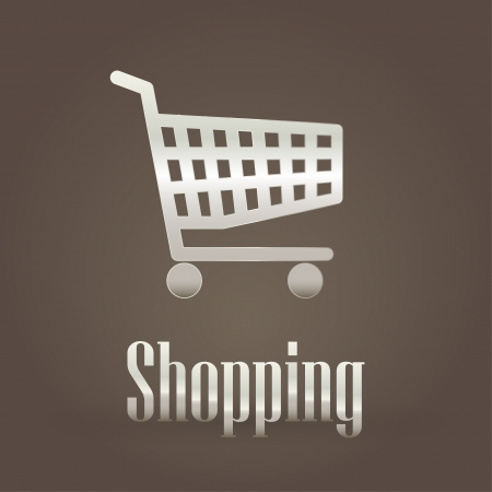 Shopping metallic symbol Vector