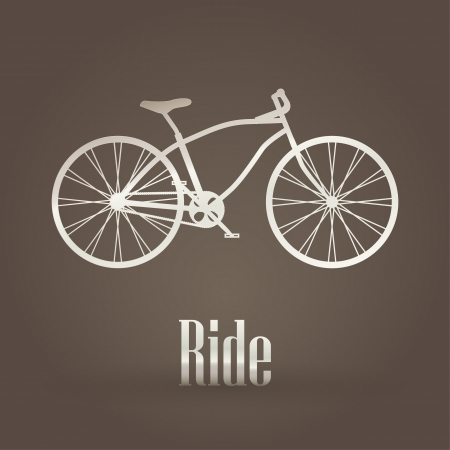 Bicycle metallic symbol Vector