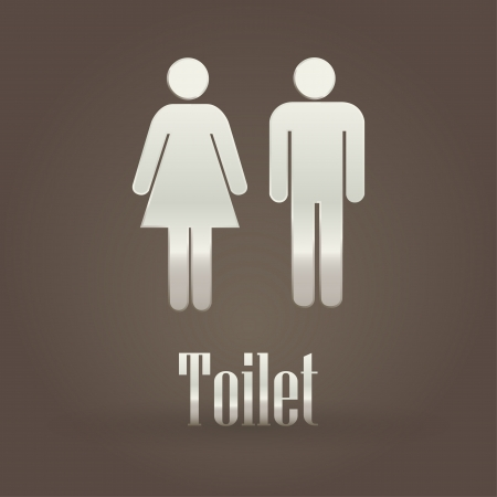 Toilet metallic symbol  Vector