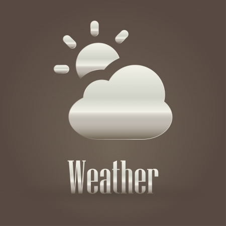 Weather metallic symbol  Vector