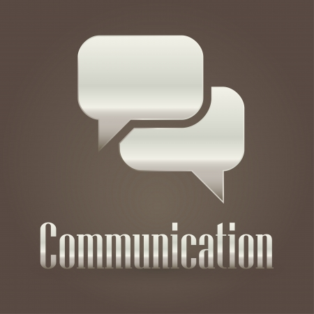 Communication metallic symbol  Vector