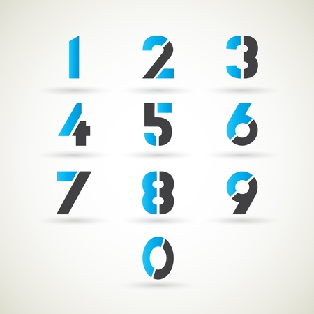 Numbers set  illustration  Illustration