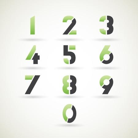 0 6: Numbers set, illustration  Illustration