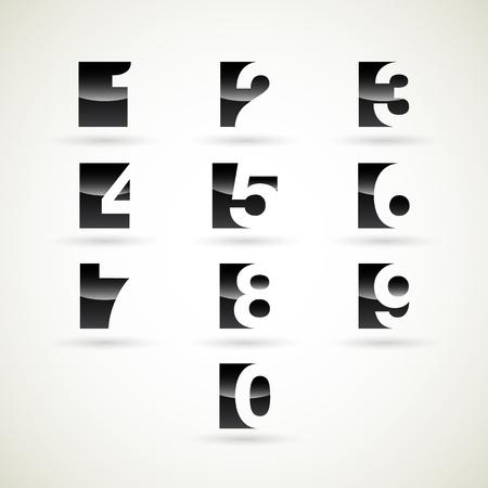 numbers abstract: Numbers set, illustration  Illustration