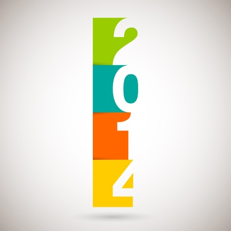 Happy new Year 2014, vector illustration   Vector