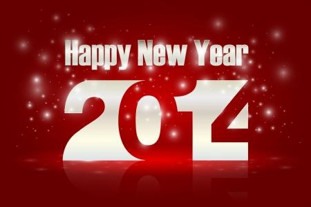 blinking: �Feliz a�o nuevo 2014, ilustraci�n vectorial Vectores