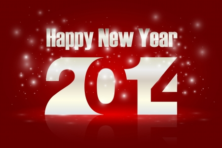 glimmer: Happy new Year 2014, vector illustration   Illustration