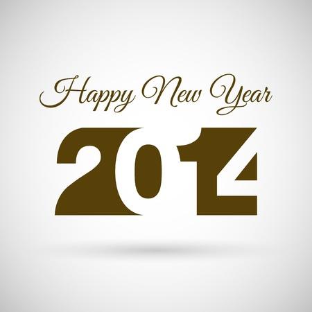 Happy new Year 2014, vector illustration   Ilustração