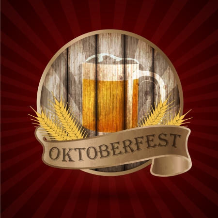 Oktoberfest vintage design, Vector illustration   일러스트
