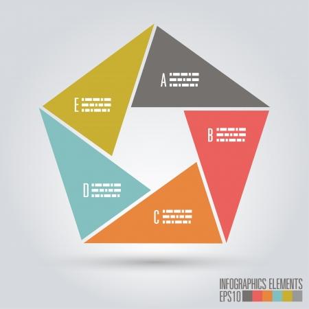 pentagon: Modern infographics, Vector illustration