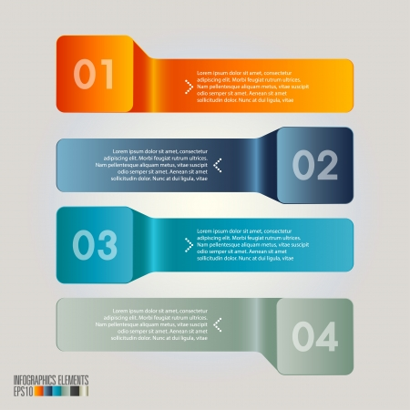 the information card: Modern infographics, Vector illustration