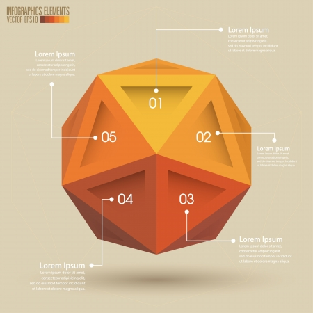 3d Geometry infographics, Vector illustration  Vector
