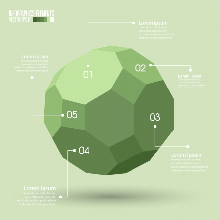 connect the dots: 3d Geometry infographics, Vector illustration