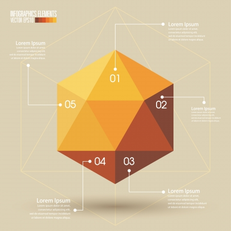 3d Geometry infographics, Vector illustration  Vector