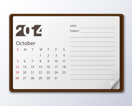 october: october 2014 Calendar