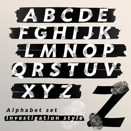 csi: alphabetic font and numbers Illustration