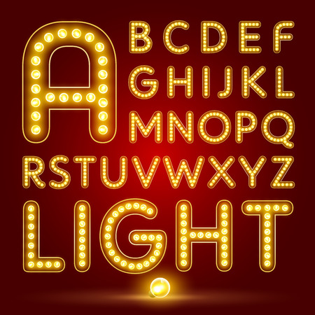 holiday movies: alphabetic font and numbers Illustration