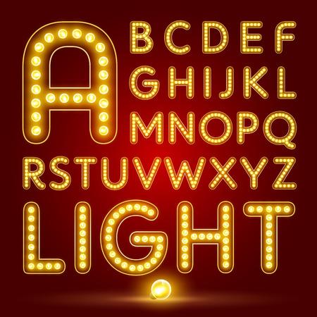 lampada: caratteri alfabetici e numeri Vettoriali