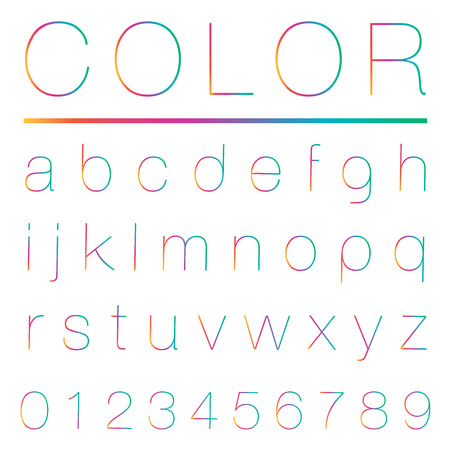 alphabetic font and numbers Vector